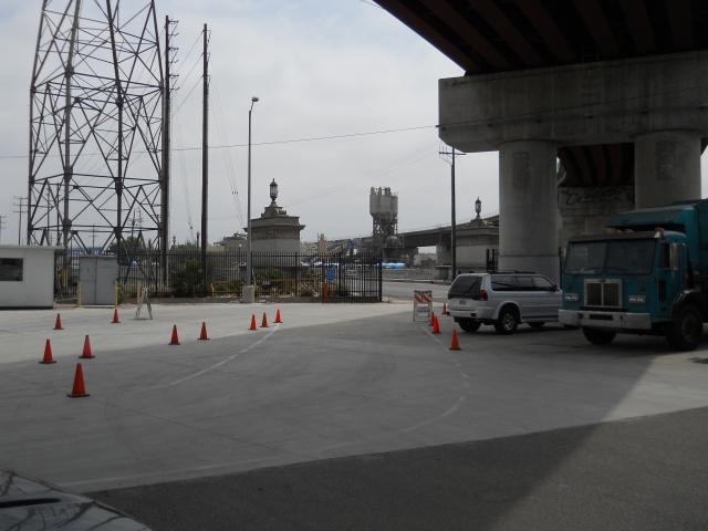 compost site under the a brige @ the LA River & Washington