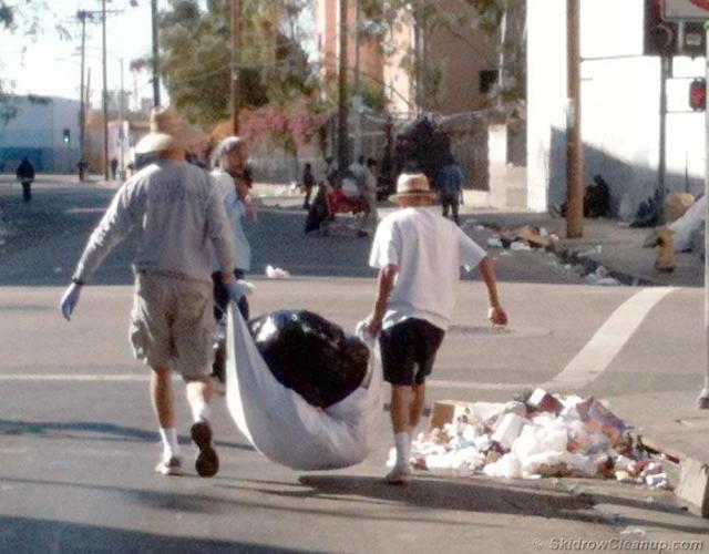 Trash on San Julian St. on Thanksgiving