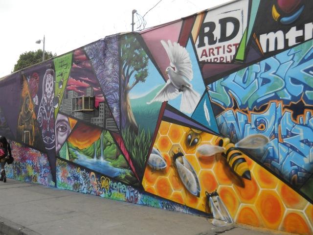 new mural on San Julian & 7th
