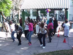 Dancing in San Julian Park