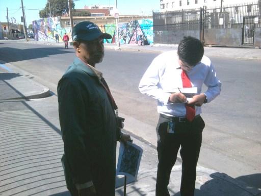 OG Man with Miguel Vargas of CD14 on San Julian Street
