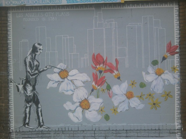 New mural @ the corner of Winston & Los Angeles St.