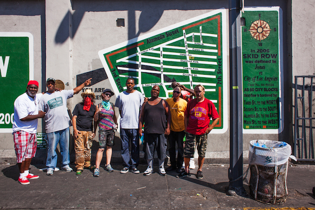 General Jeff and artists with the new mural (Photo by Stephen Zeigler)