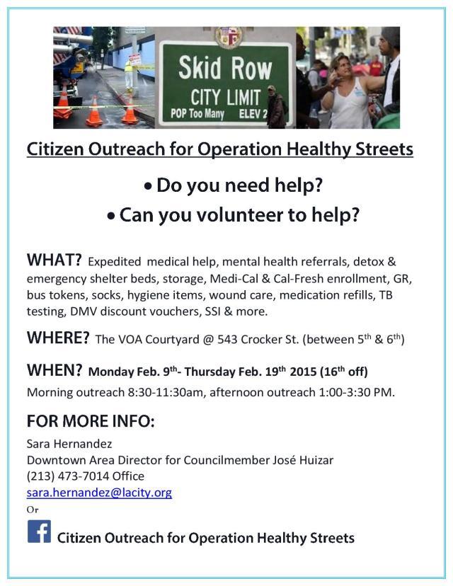 Citizen Outreach for OHS